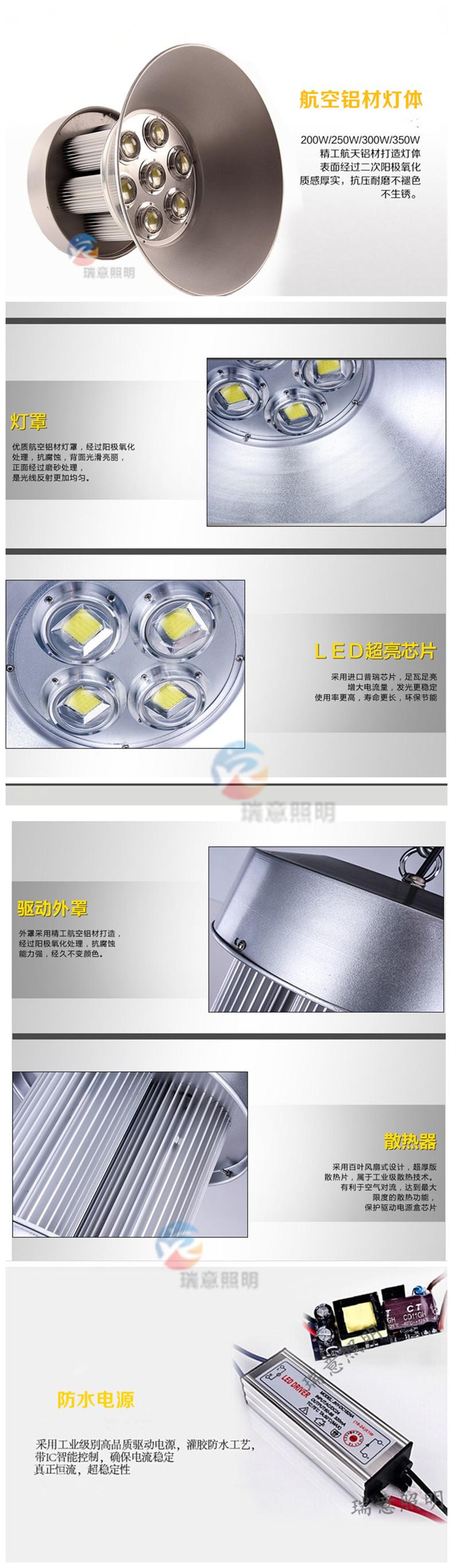 200W-350W大功率LED工矿灯实拍图