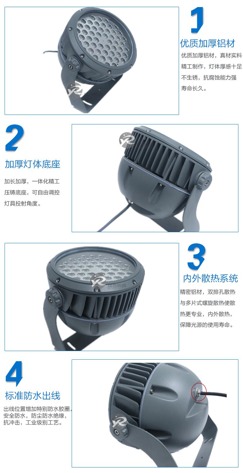 3W-100W圆形LED投光灯实拍图