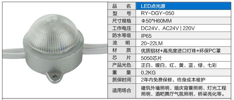 ¢50圆形LED点光源