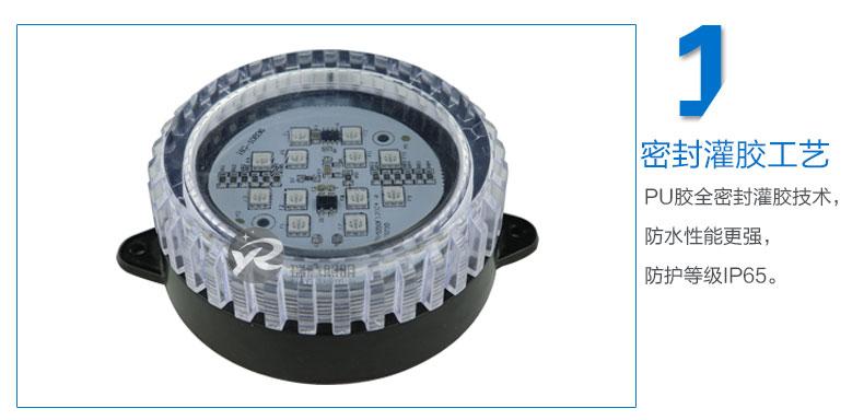 Φ95圆形LED点光源实拍图-1