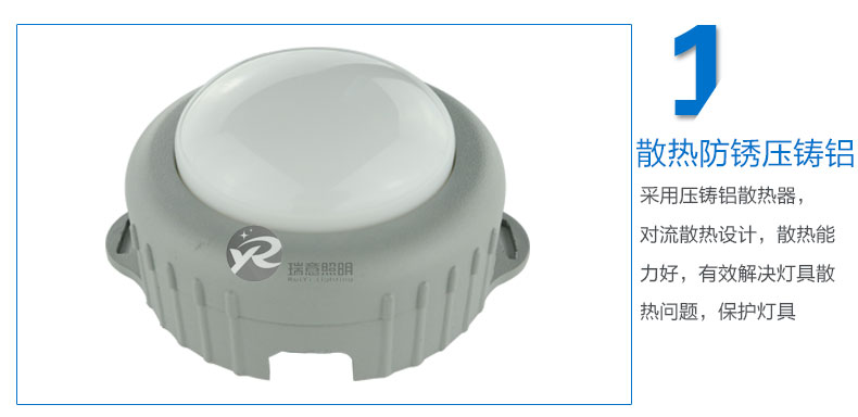 Φ100A圆形LED点光源实拍图-1