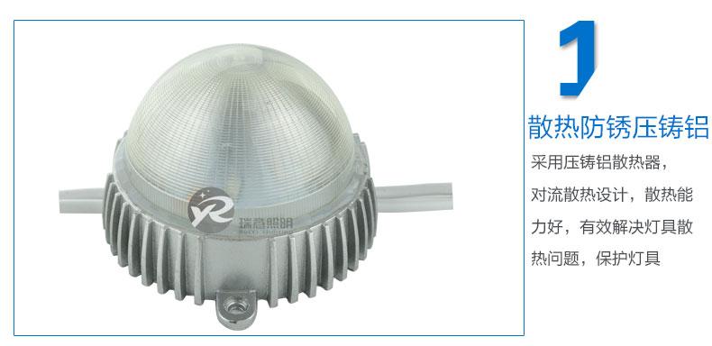 Φ155圆形LED点光源实拍图-1