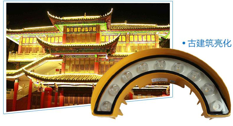 9W瓦楞灯 LED月牙灯 LED瓦片灯 LED星光灯应用图-2