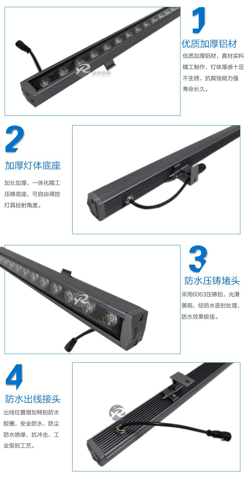 18-24W防水LED洗墙灯40*30实拍图