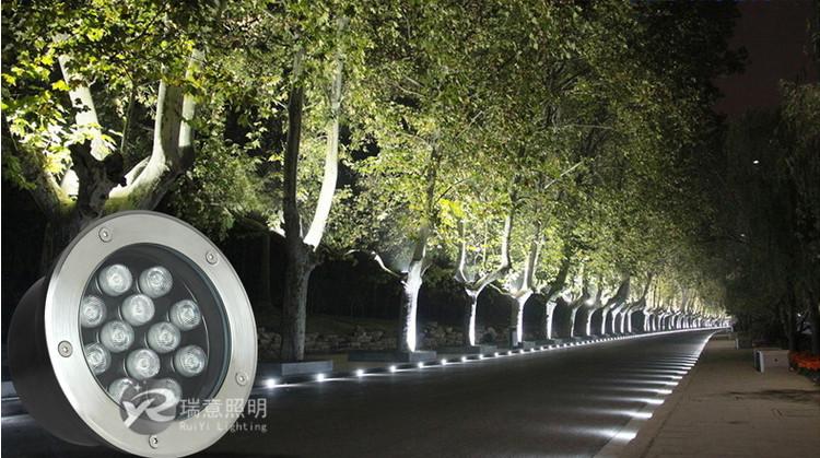 【江西】公园改造LED地埋灯亮起来
