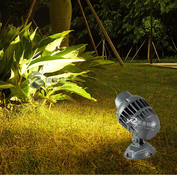 鳍片式散热投光灯 LED投光灯 瑞意投光灯
