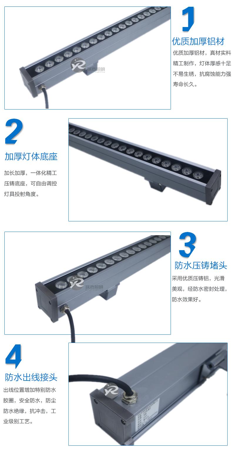 36W私模新款LED洗墙灯48*55实拍图