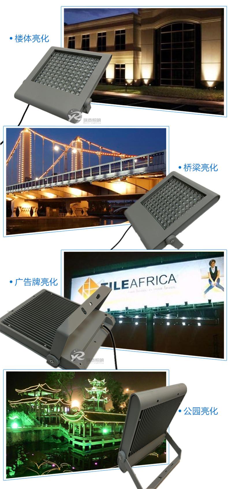 16W-100W方形LED投光灯应用图